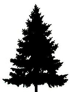 Pine Tree Silhouette Clip Art.