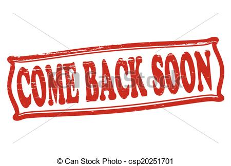 Vector Clipart of Come back soon.