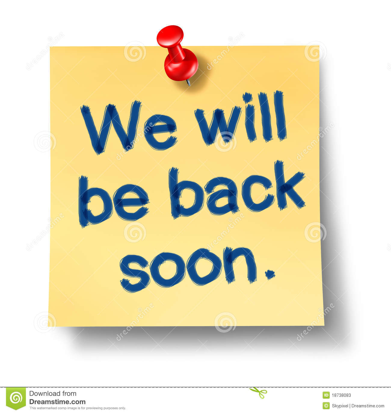 Will Be Back Soon Pictures to Pin on Pinterest.