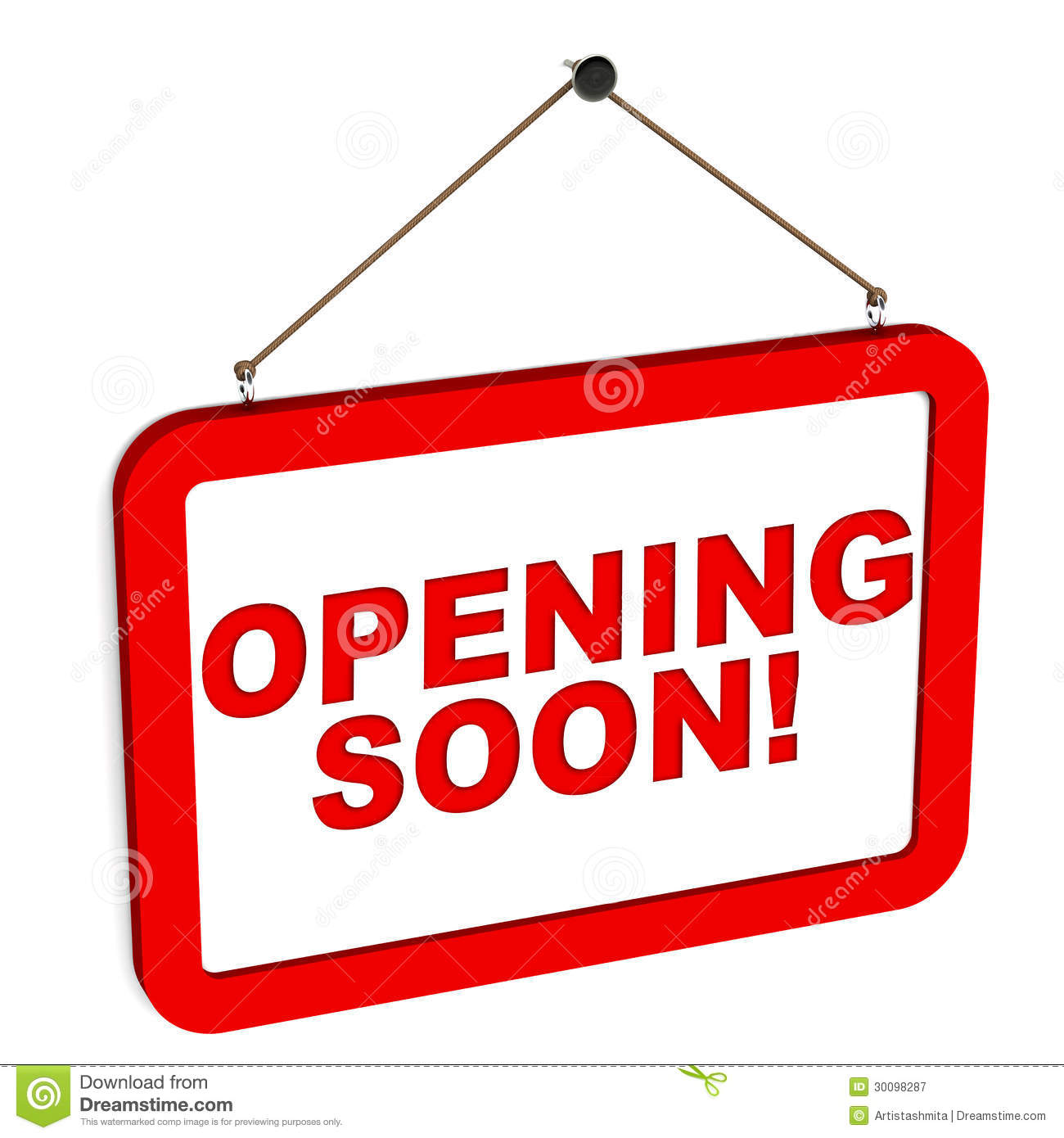 Opening Soon Clipart.