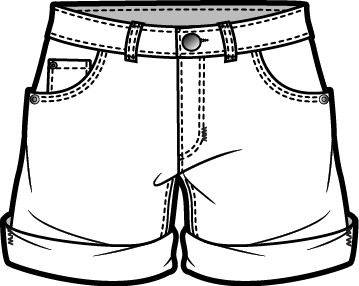 Shorts clipart black and white 2 » Clipart Station.