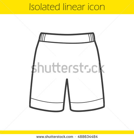 Shorts Linear Icon Thin Line Illustration Stock Vector 407827531.