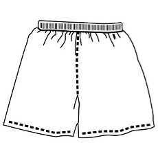 Free football shorts outline vectors.