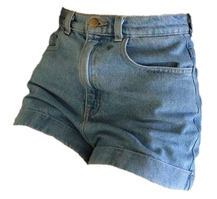 Denim shorts png uploaded by tracy martel on We Heart It.