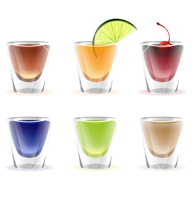 Alcohol Shot Clipart.