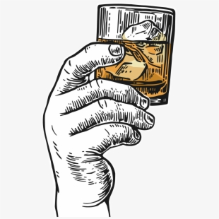 Hand Holding A Shot Glass , Transparent Cartoon, Free.