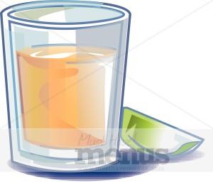 Shot Glass Clipart.