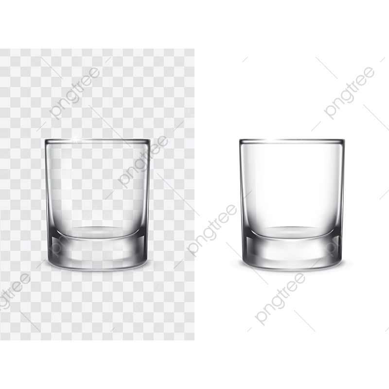 Realistic Drinking Glasses, Glass, Shot Glass, Glassware PNG.