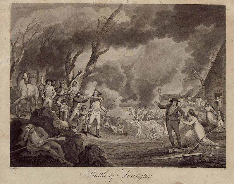 Shot Heard Round The World Start of American Revolution 1775.