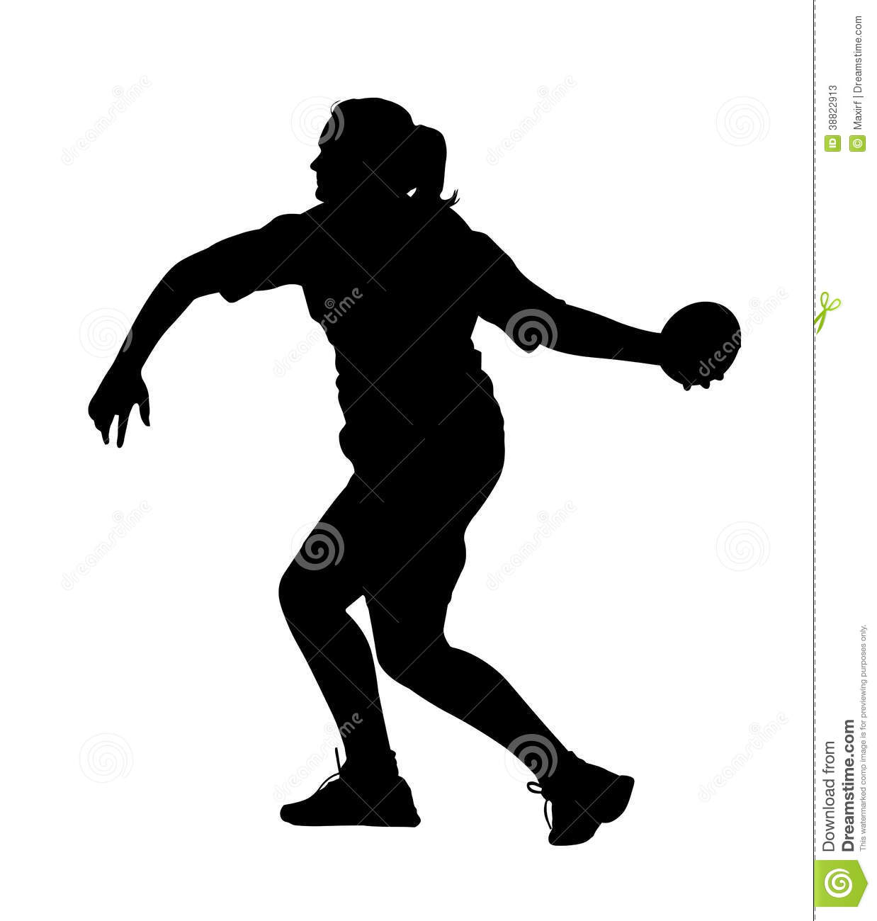 Track And Field Clipart Shot Put.