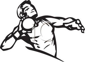 Shot Put And Discus Throwing Clipart.