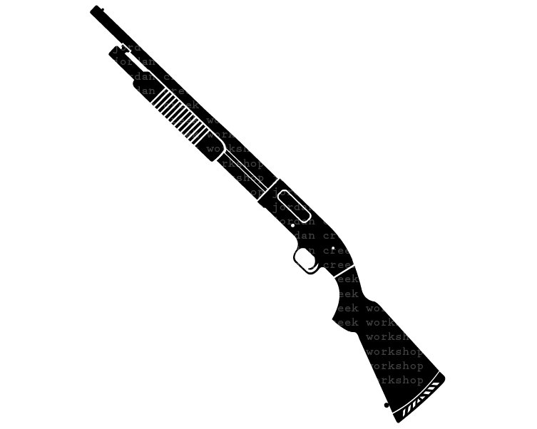 Antique Shotgun Clipart.