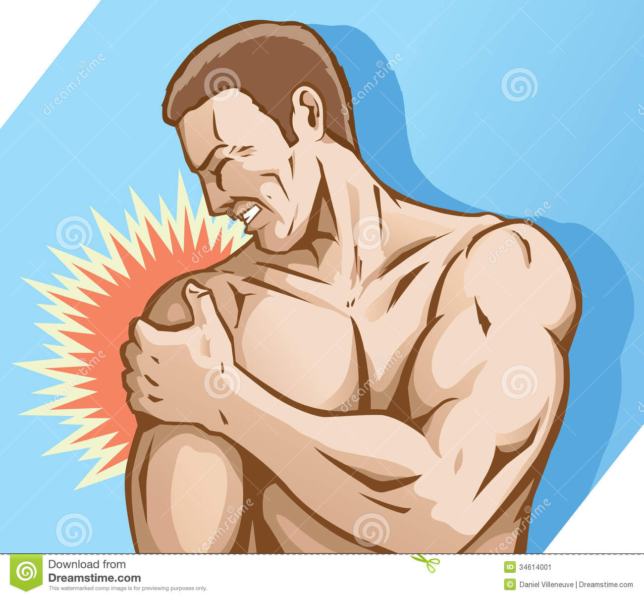 Shoulder Pain Clipart.