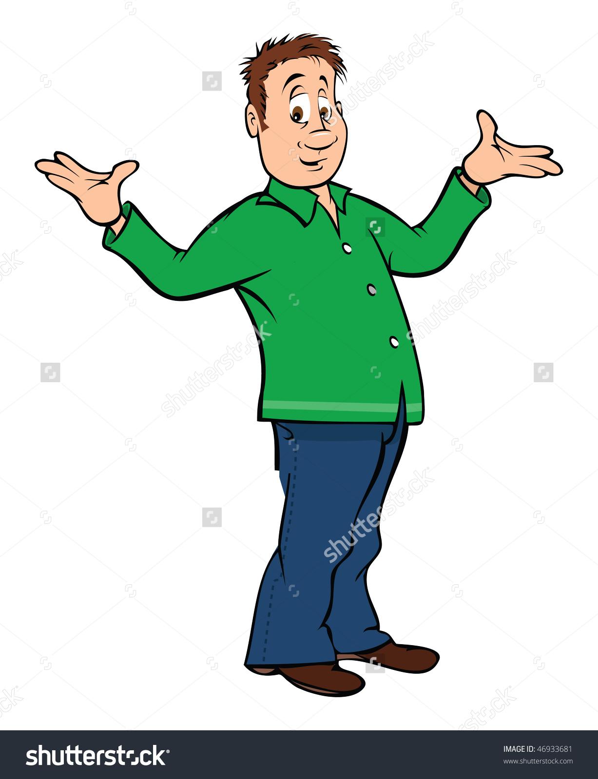 Showing post & media for Cartoon man shrug shoulders.