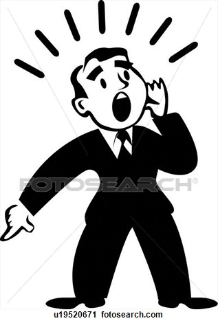 Person Shouting Clipart.