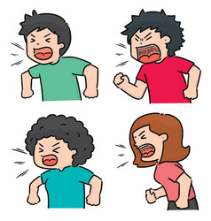 Angry Man Shouting Cartoon Clipart Vector Images (29).
