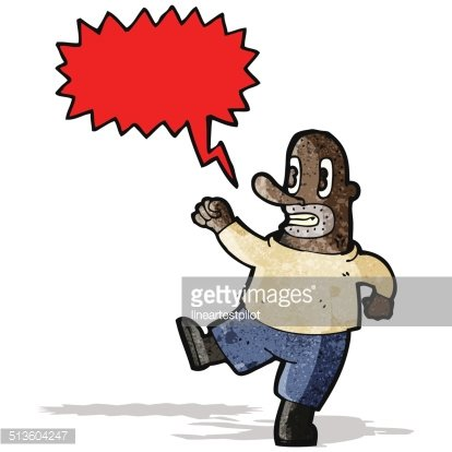 cartoon shouting man Clipart Image.
