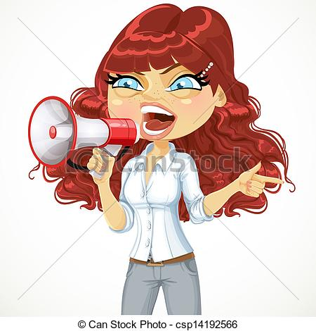 Shouting on a girl Vector Clipart EPS Images. 30 Shouting on a.
