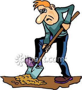 Man Digging with a Shovel.