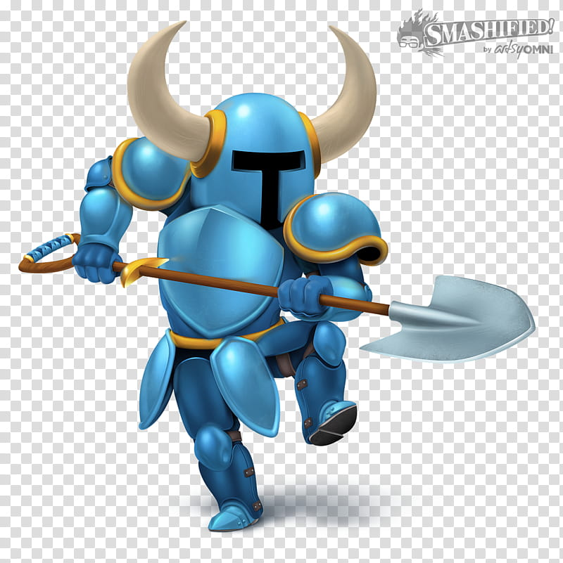 Shovel Knight Smashified, blue suit soldier sticker.