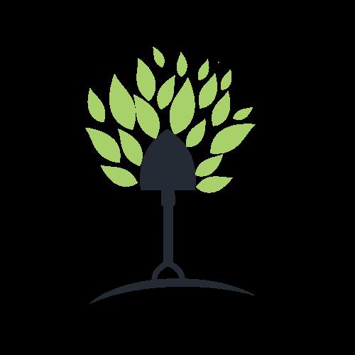 Garden Tree Shovel Logo.