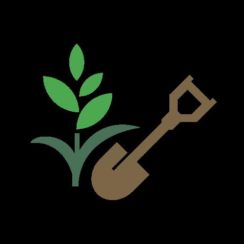 Shovel Plant Gardening Logo.