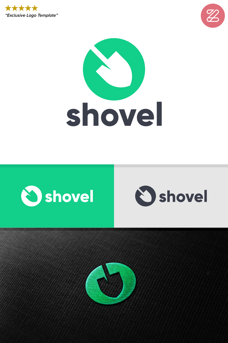 Shovel Logo Template.