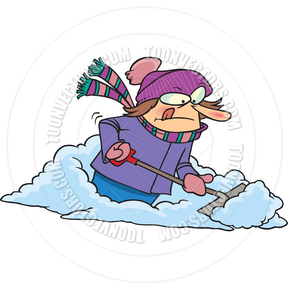 Clipart Shoveling Snow.
