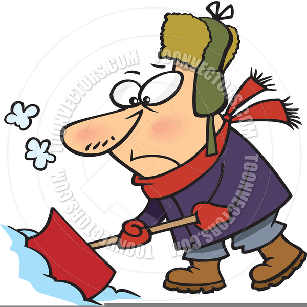Free Person Shoveling Snow Clipart.