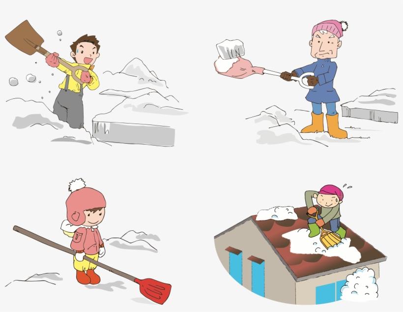 Shoveling Snow Clipart.