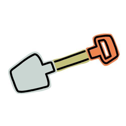 Shovels clip art image #26457.