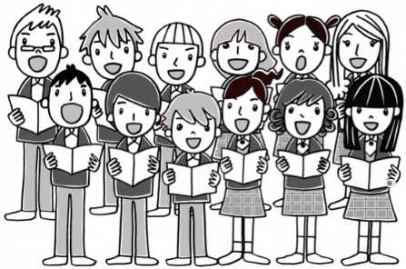 Free choir clipart the image.