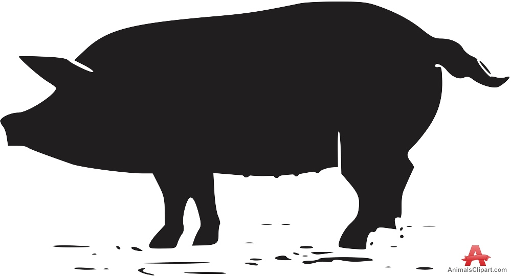 Pig Silhouette Clipart.