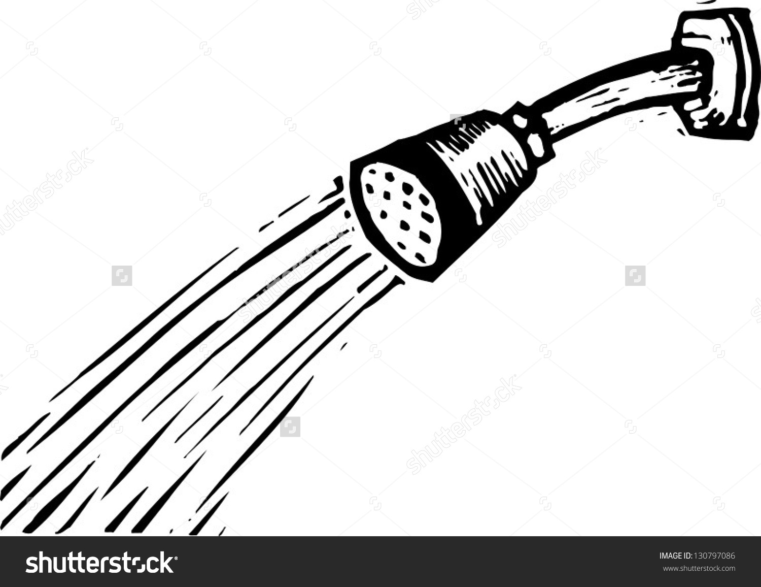 Shower Clipart White Black.