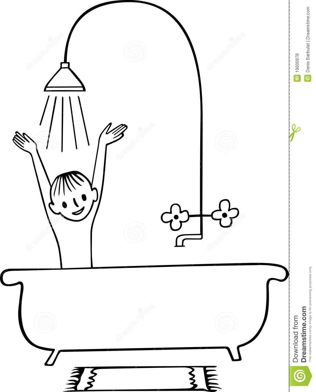 Shower Clipart Black And White.