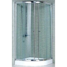 Shower Enclosure Mm Tempered Glass Aluminum Frame Brass.