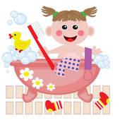 Shower Bath Clip Art.