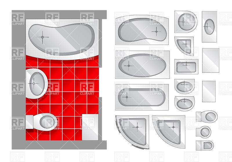 Bathroom Clipart Top View.