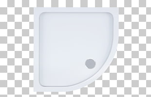 Rectangle Bathroom Sink, Shower Top View, white ceramic.