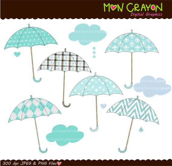 umbrella clip art , INSTANT DOWNLOAD umbrella Digital clip.