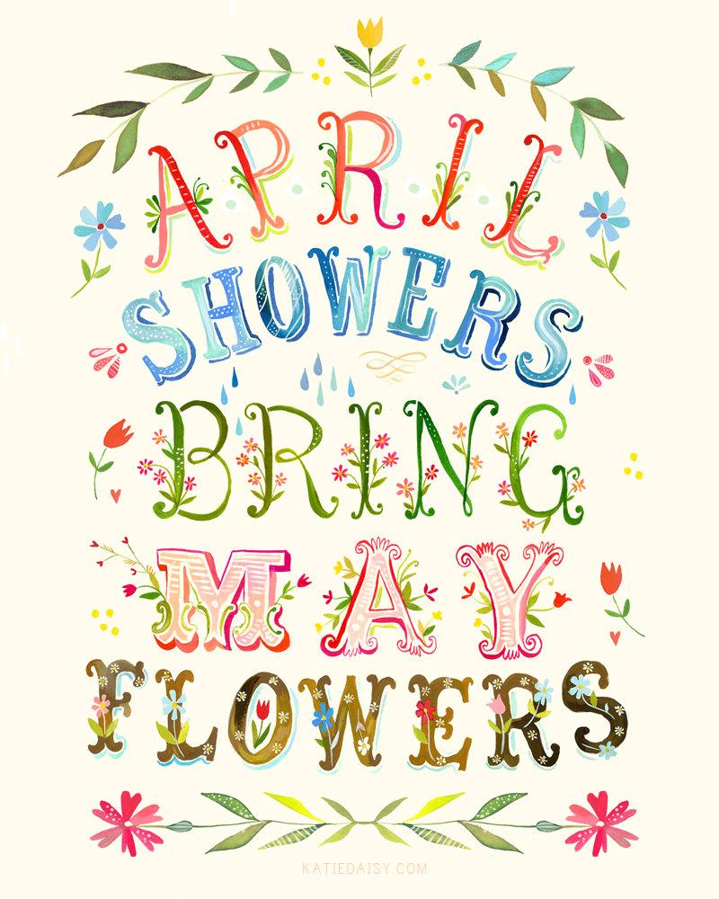 April Flowers Clip Art.