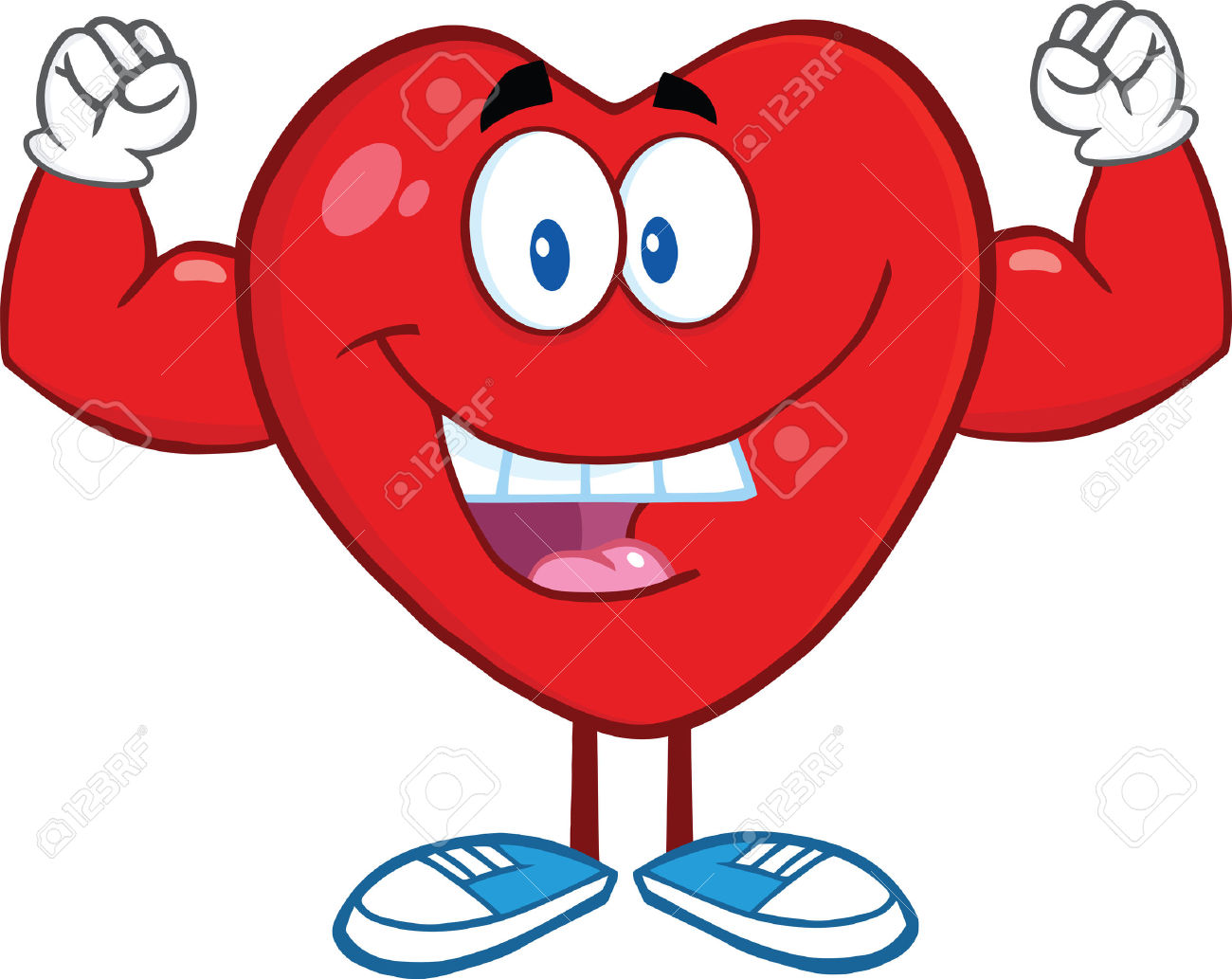Showing post & media for Heart with muscles cartoon.