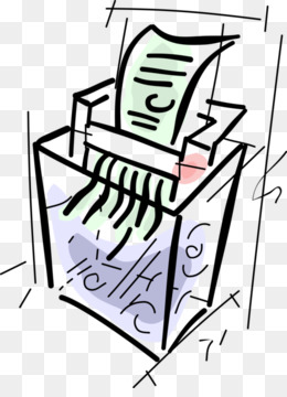 Paper shredder Industrial shredder Waste Clip art.