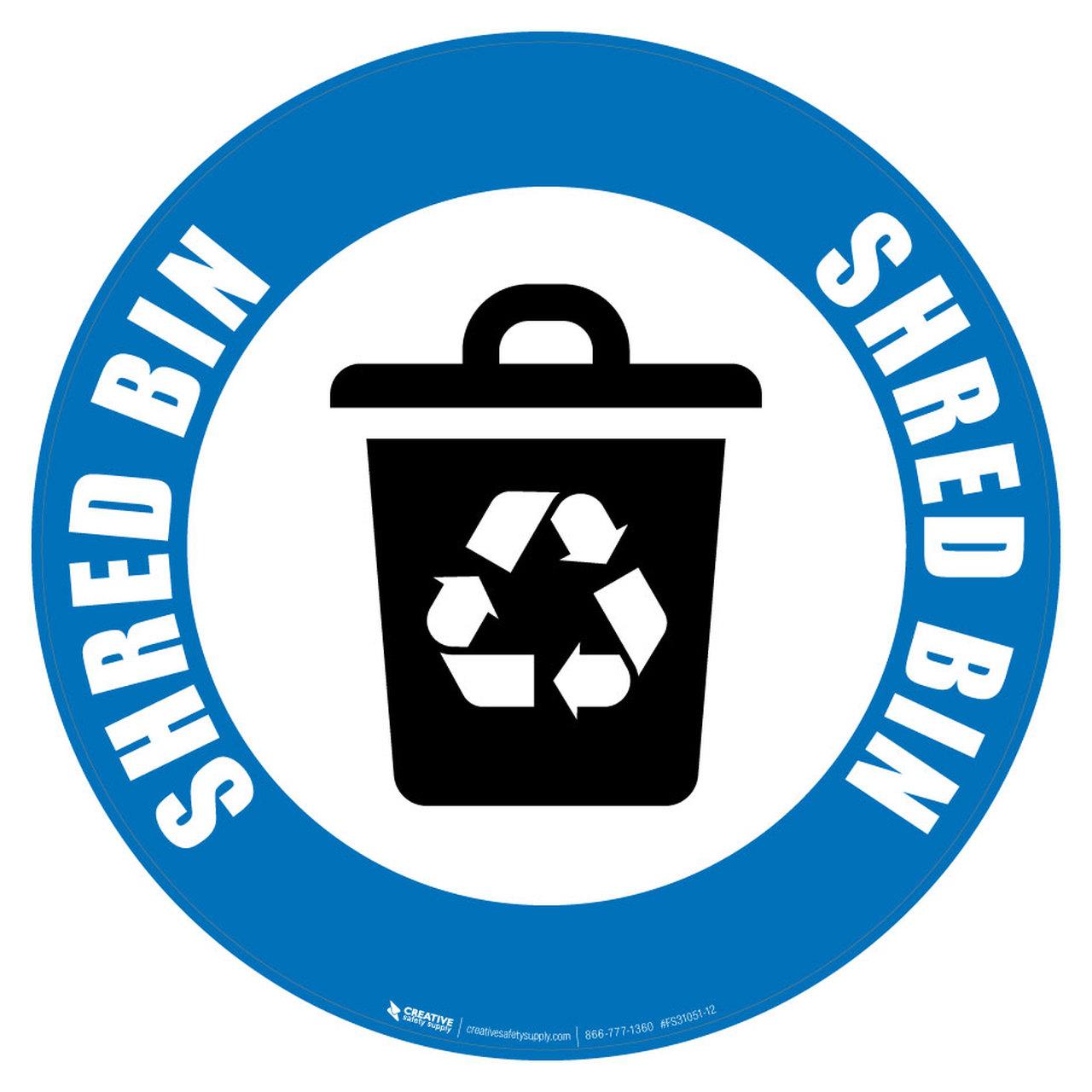 Shred Bin (Blue) Icon.