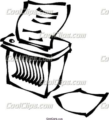 Paper Shredding Clipart.