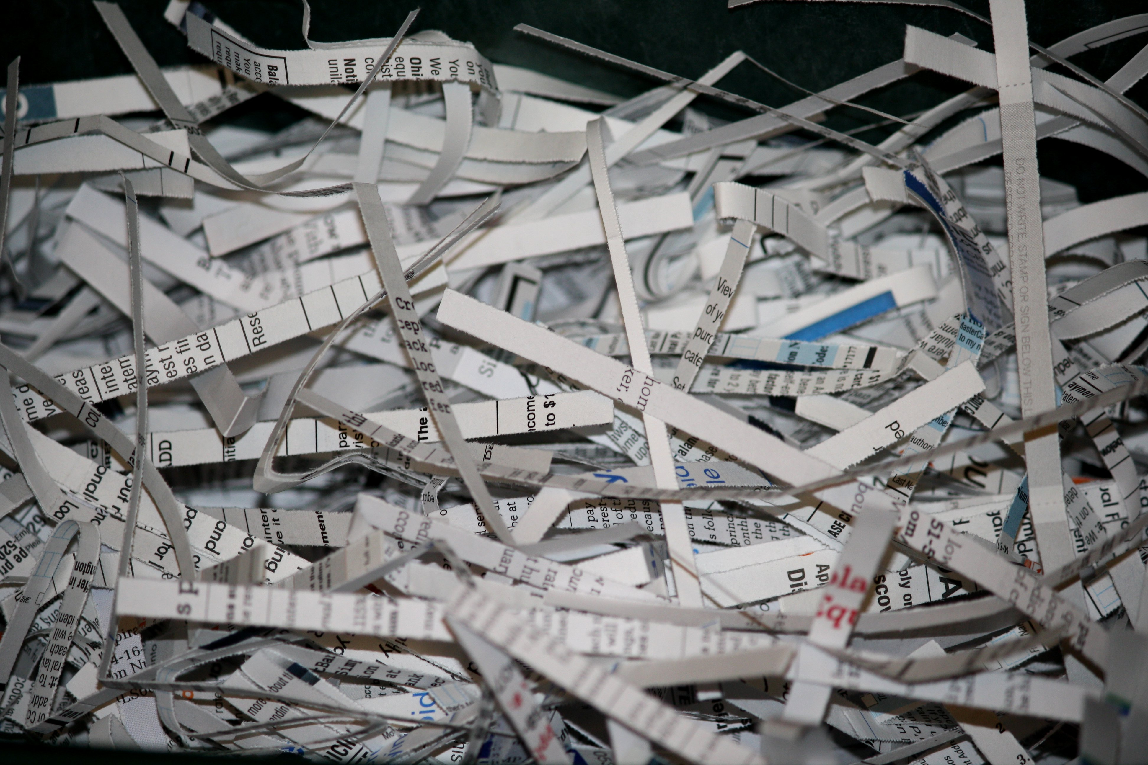 Shredded Paper Documents Picture.
