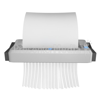 Blank Paper Being Shredded.