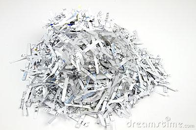 Shredded Paper Stock Photography.