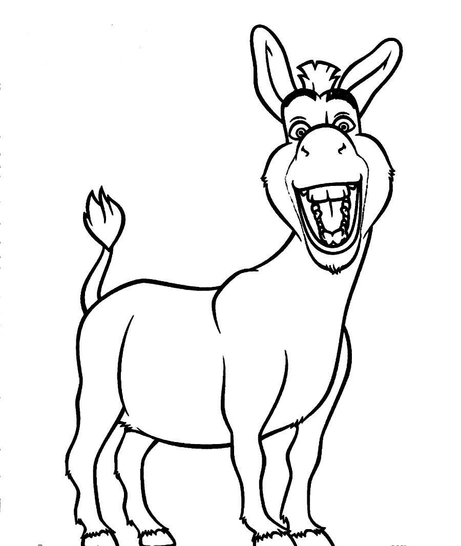 Donkey Clipart Printable Pencil And In Color Pleasing Pin.