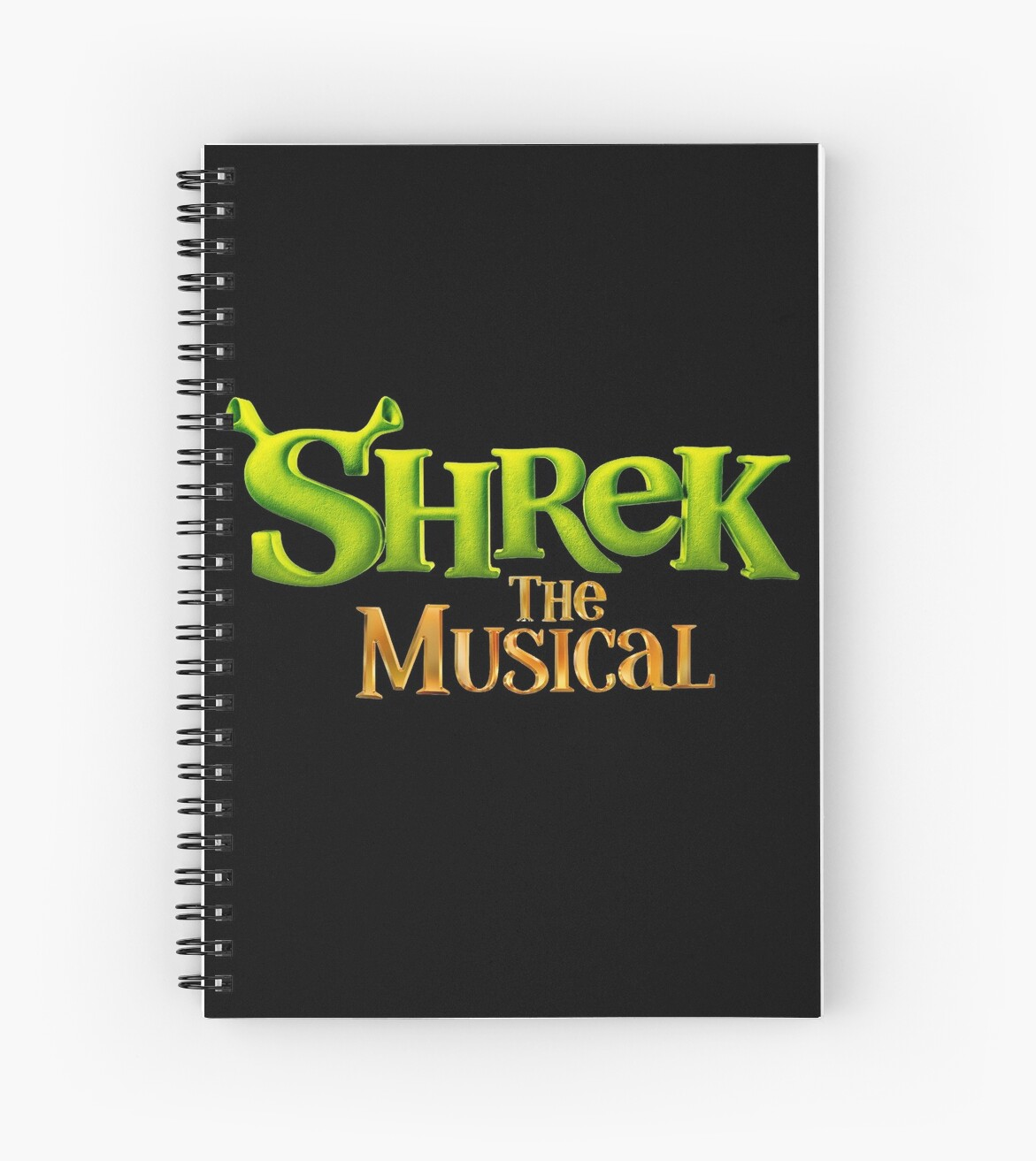\'Shrek the Musical Logo\' Spiral Notebook by musicalsoundtra.